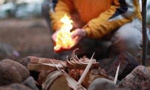 How to Light a Primitive Fire without Matches