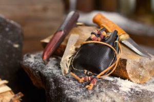 flint stone fire starter kit