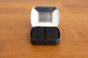 Char cloth in tinder box