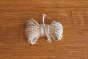 Jute twine for kindling preparation