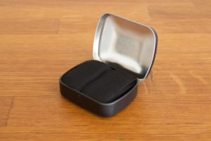 Tinder box with char cloth tinder