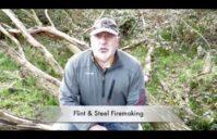Making Fire Using Flint And Steel